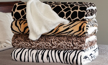 Lavish Home Animal-Print Fleece Blankets