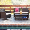 Clearwater Outdoor Wicker Sofa Set (4-Piece)