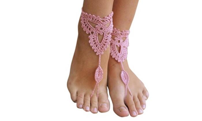 Uitzonderlijk Tot 66% op Gehaakte blote voeten 'sandalen' | Groupon Producten @JU11