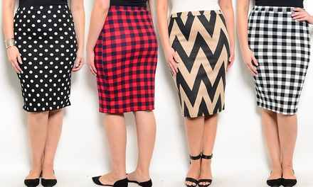 Lastest Business Look Women Women Business Wear Skirt Knee Length White Shirt