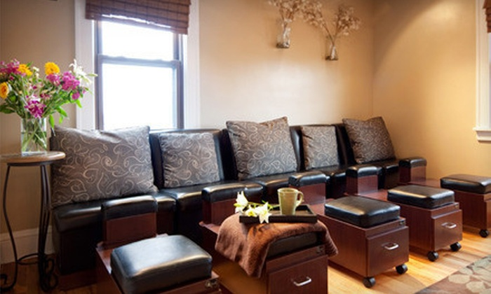 Quintana's Barber & Dream Spa - Cleveland Heights: Shellac Manicure and Dream Pedicure, 50-Minute Massage, or Facial at Quintana's Barber & Dream Spa (Up to 51% Off)