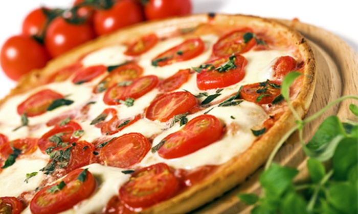 Straw Hat Pizza - Rebeiro: $7 for $14 Worth of Pizzeria Food at Straw Hat Pizza