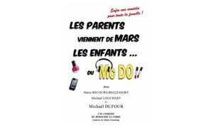 "Les Jolies Productions ASBL: 2 tickets voor de komedie ""Les parents viennent de mars, les enfants du Mc Do!"" op 6 of 9 april 2016 voor € 29"