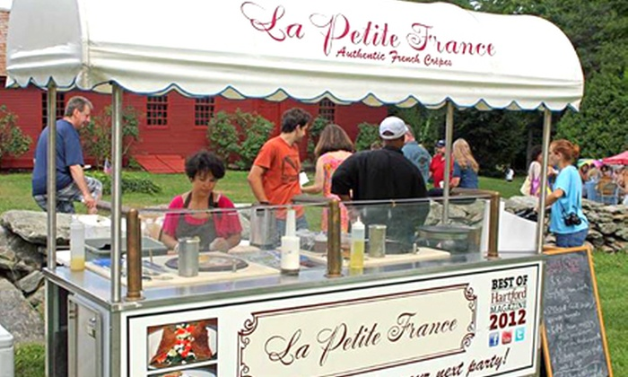 La Petite France - West Hartford: Weekday or Weekend French Lunch or Two-Hour Crepe-Cart Rental from La Petite France (Up to 55% Off)