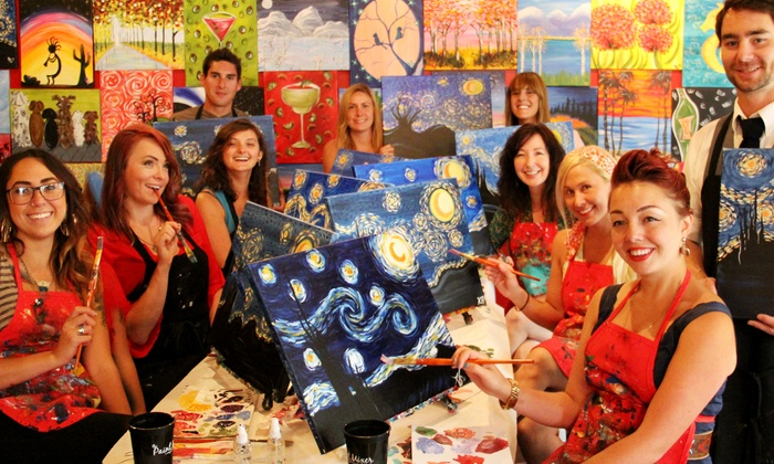 The Paint Mixer - Multiple Locations: $25 for a Two-Hour Painting Party with Materials Included at The Paint Mixer ($40 Value)