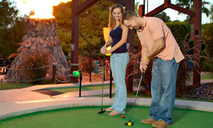 Golfland Sunsplash - Mesa: Haunted-House Package for Two with Mini Golf and Optional Go-Karting at Golfland Sunsplash (Up to 51% Off)