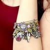 Symbology Bangle Bracelet with Birthstone Charm