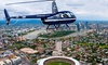 V² Helicopters - V² Helicopters: Mount Coot-tha Flight for One ($69) or Brisbane Twilight Flight for Two ($398) with V² Helicopters (Up to $598 Value)