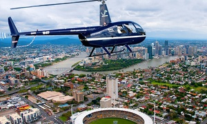 V² Helicopters: Mount Coot-tha Flight for One ($69) or Brisbane Twilight Flight for Two ($398) with V² Helicopters (Up to $598 Value)