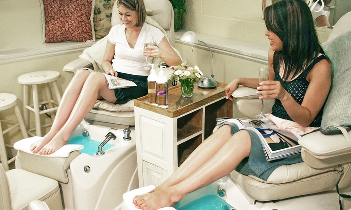 Pinkies Nail Salons - Multiple Locations: $39 for One Pinkies Mani-Pedi, and $20 Toward Jewelry at INPINK.com from Pinkies Nail Salons ($64 Value)