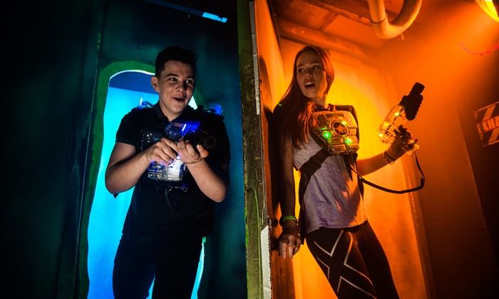 Lasertag Adventure - Waukesha: Laser-Tag and Trampoline Dodgeball Package for Two or Four at Lasertag Adventure (Up to 43% Off)
