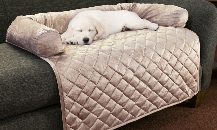 Furniture protector pet covers with bolster groupon for Bolster pillow furniture cover for pets
