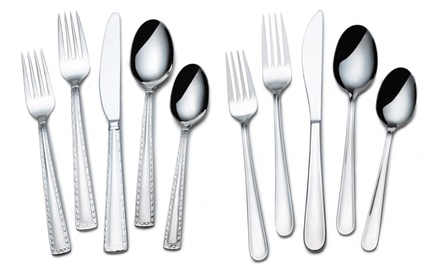 Sabatier 20-Piece Stainless Steel Flatware Sets