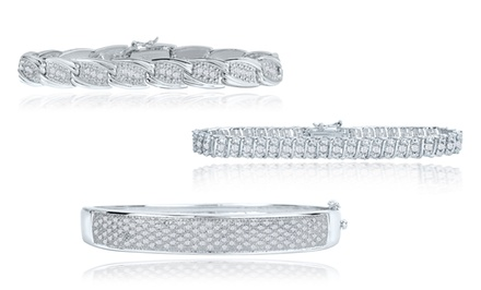 1.00 CTTW Diamond Bracelets. Multiple Styles Available.