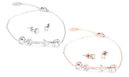 1 o 2 conjuntos de pulsera y pendientes Eva adornados con cristales de Swarovski®
