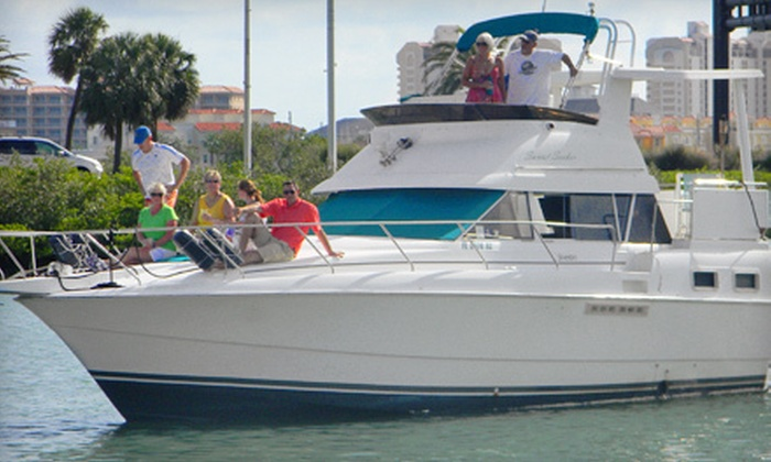 Gulfside Adventures - Clearwater: $159 for a Three-Course Dinner at Island Way Grill with Three-Hour Semiprivate Cruise for Two from Gulfside Adventures ($318 Value)