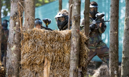 All-Day Play and Equipment Rental for Three at Pev's Paintball (Up to 84% Off). Two Options Available.