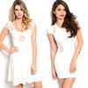 White-on-White Summer Mini Dress