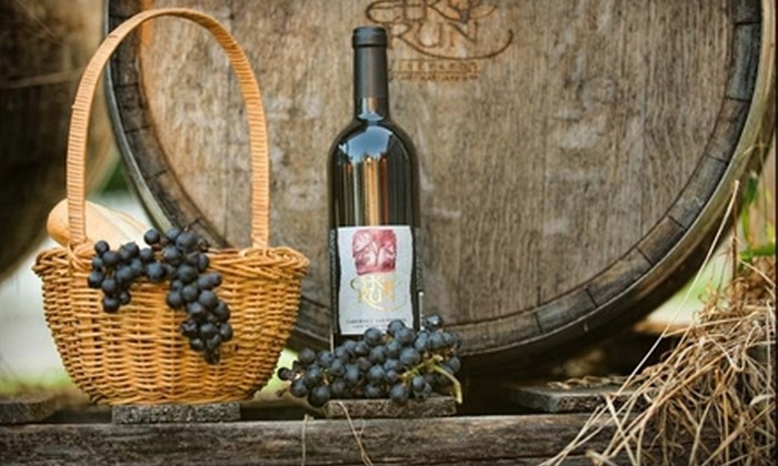 Elk Run Vineyards - Mount Airy: One, Two, or Three Wine Classes with Bread and Cheese for Two at Elk Run Vineyards (Up to 55% Off)