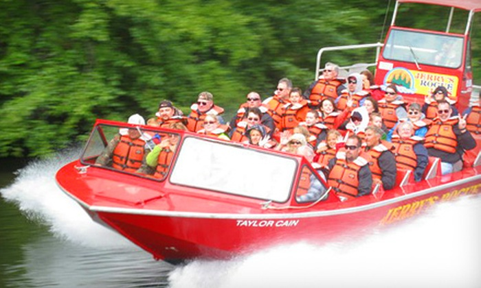 Jerry's Rogue Jets - Gold Beach: $80 for an 80-Mile Afternoon Whitewater Excursion for Two Adults from Jerry's Rogue Jets ($140 Value)
