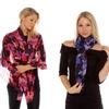 """Isaac Mizrahi 72"""" x 28"""" Floral Print Scarves"""