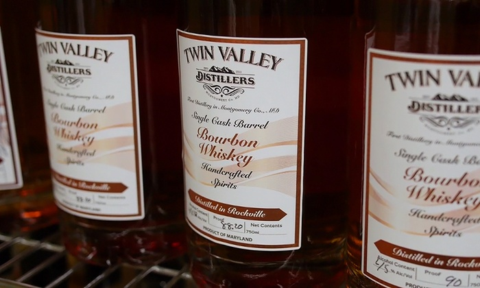 Twin Valley Distillers - 4: 60-Minute Bourbon or Rum Tasting and Complimentary Bottle for Two or Four at Twin Valley Distillers (Up to 46% Off)