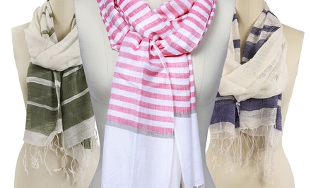 Mitchell Brady Striped Scarf