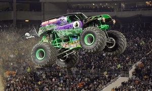 Monster Jam: Monster Jam on Saturday, February 13, at 7:30 p.m. or Sunday, February 14, at 6 p.m.