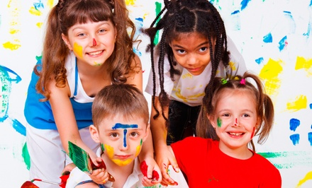 2, 5, or 10 Drop-In Splatter-Painting Sessions at Kidoodles Art Studio (50% Off)