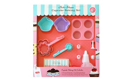 Bake Shoppe 17-Piece Cupcake Baking Set for Kids