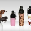 Half Off a Stainless Steel Pet Water Bottle