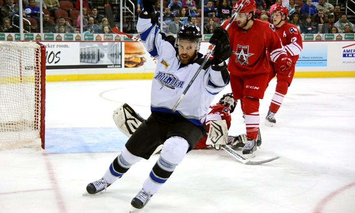 Wichita Thunder - INTRUST Bank Arena: Wichita Thunder Six-Game Ticket Package at INTRUST Bank Arena Through April 9 (Up to 52% Off)