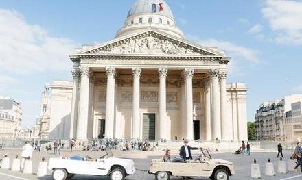 Balade insolite d'1h dans Paris en Méhari pour 3 personnes maximum à 59€ avec TOUR IN PARIS