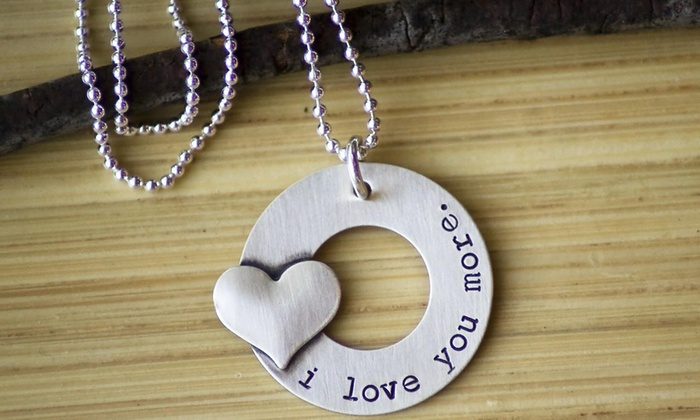 39 i love you more 39 necklace groupon goods