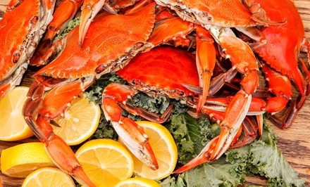 Seafood and Burgers or Steamed Crabs for Takeout at Waterman's Pride Seafood (40% Off)