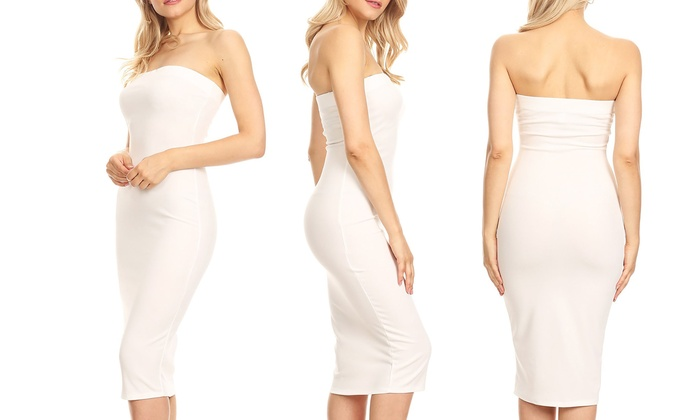 c436f2b826 Up To 38% Off on Women s Strapless Bodycon Dress