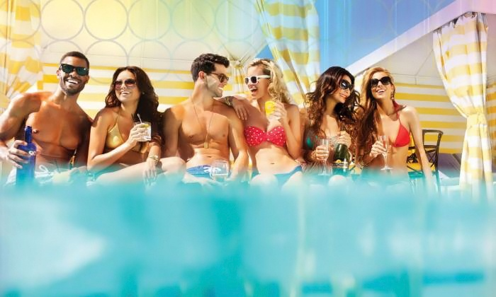 The Pleasure Pools at Planet Hollywood Resort & Casino - Planet Hollywood Resort and Casino: Pool Package at The Pleasure Pools at Planet Hollywood Resort & Casino (Up to 54% Off). Four Options Available.