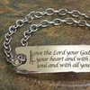 Stainless Steel Matthew 22:37 Prayer Bracelet