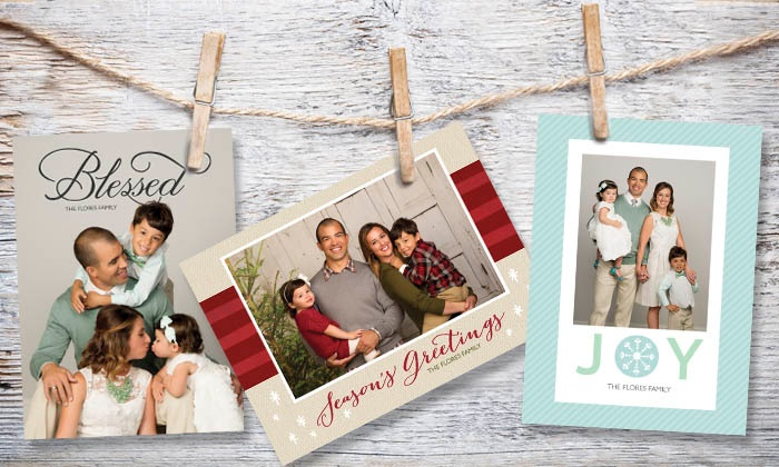 JCPenney Portraits - Fresno: Professional Photo Session with 24, 36, or 60 Holiday Photo Cards at JCPenney Portraits (Up to 81% Off)