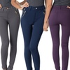 Quad Zipper Women's Fitted Pants With Belt Straps