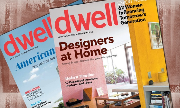 """Dwell"" Magazine Subscriptions: One- or Two-Year Subscription to ""Dwell"" Magazine (Up to Half Off). Free Shipping."