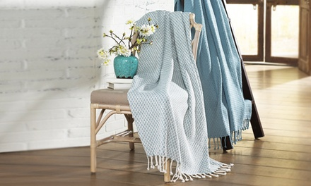 The Comfort Collection 100% Cotton Throw Blanket (2-Pack)