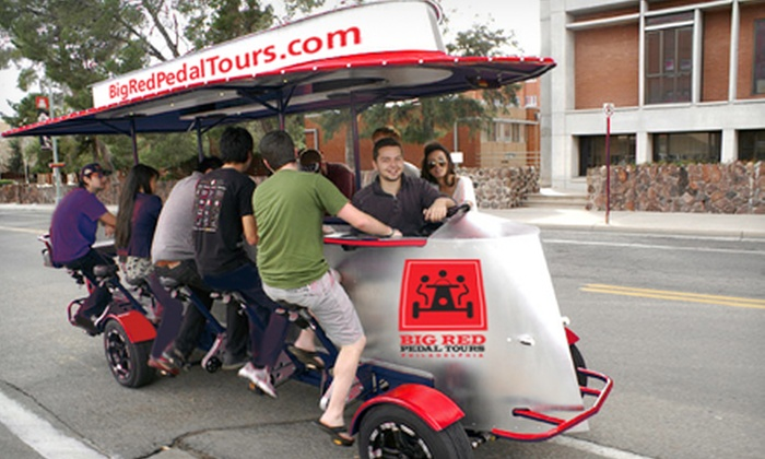 Big Red Pedal Tours - Center City East: Pedal Pub Tour for Two or Four or Private Pedal Pub Party from Big Red Pedal Tours (Half Off). Five Options Available.