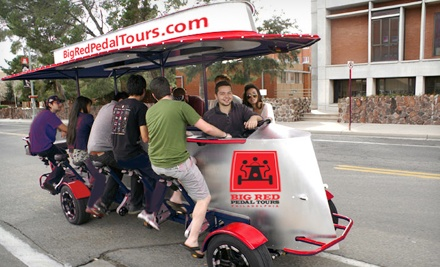 Pedal Pub Tour for Two or Four or Private Pedal Pub Party from Big Red Pedal Tours (Half Off). Five Options Available.