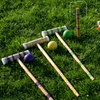 Complete 9 Wicket Croquet Set with Carrying Case