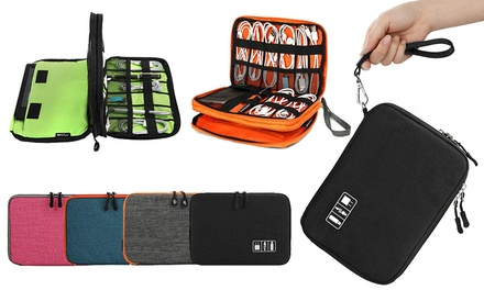 for a DoubleLayered Waterproof Travel Gadget Organiser Bag