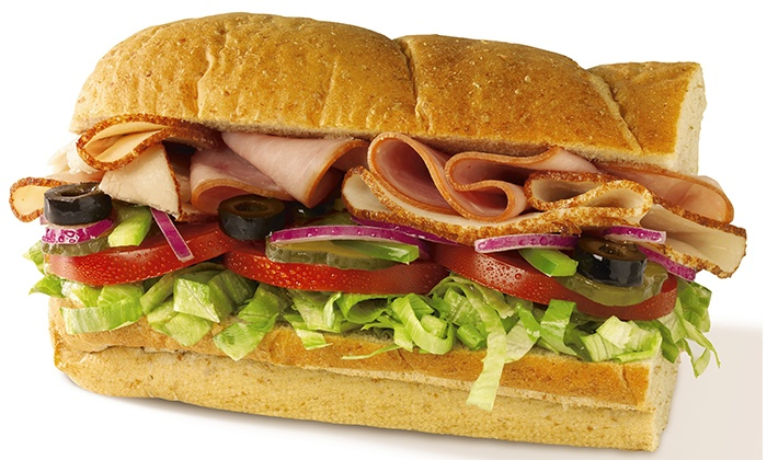 Subway - Multiple Locations: Sandwiches or Catering Platters at Subway (Up to 45% Off). Three Locations Available.