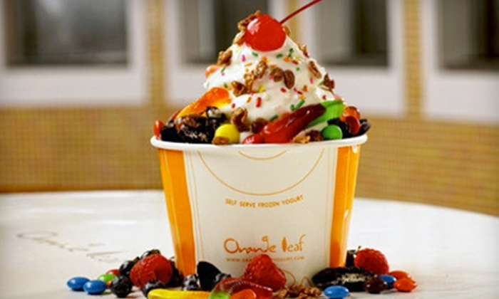 Orange Leaf - Multiple Locations: One or Four Groupons, Each Good for $10 Worth of Frozen Yogurt at Orange Leaf (Up to Half Off)