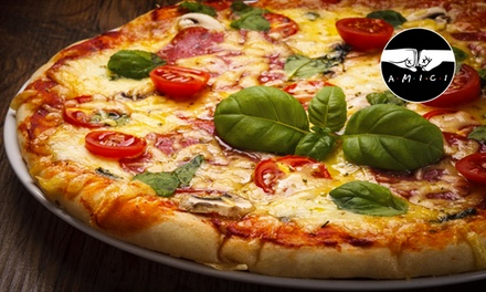 Menu pizza e birra