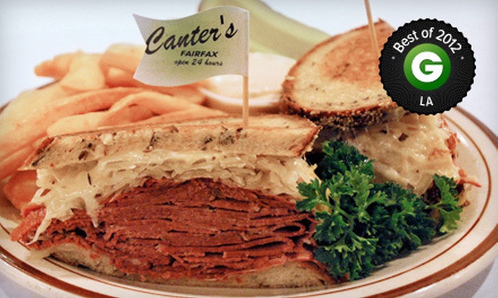 Canter's Deli - Mid-Wilshire: Up to 51% Off Deli Food at Canter's Deli. Three Options Available.